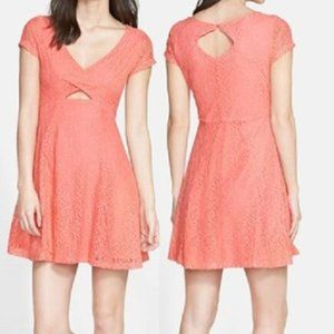 Jessica Simpson Kaitlee Lace Fit & Flare Dress